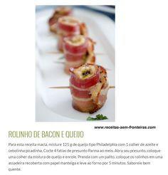 Rolinho de Bacon e Queijo