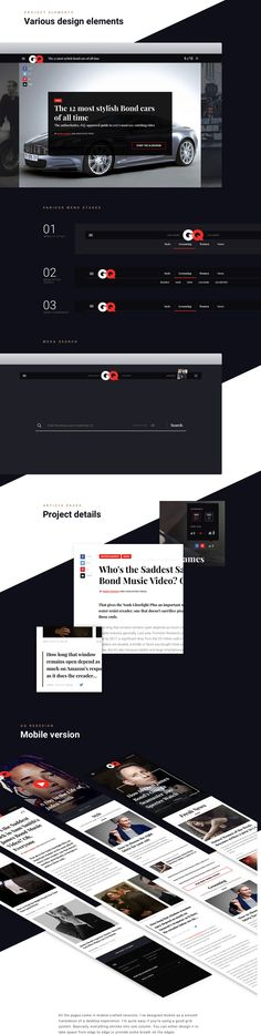 GQ Online Redesign Concept on Web Design Served
