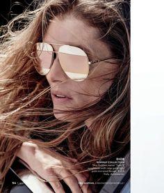 Dior Golden Metal Split 1 Sunglasses with Rose Gold/Light Pink Mirrored Lenses