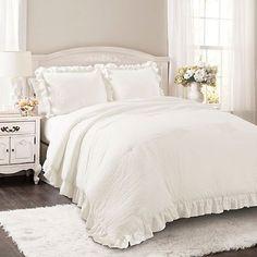 White Riley 3-pc. Full/Queen Comforter Set | Kirklands