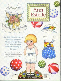Ann Estelle * 1500 free paper dolls for other Pinterest paper doll pals at Arielle Gabriel's The International Paper Doll Society *