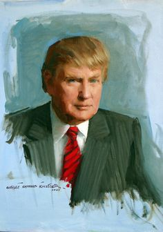 Portrait of Donald Trump - Everett Raymond Kinstler