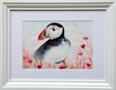 Puffin Lilac Flowers, Red Roses, Bird Artists, Irish Landscape, Irish Art, Jumping For Joy, Summer Glow, Sea Birds, Flower Vases