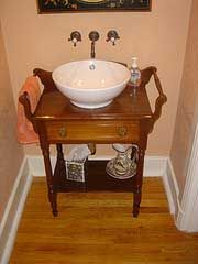 Delightful Old Fashioned Bathroom Sink/Faucet