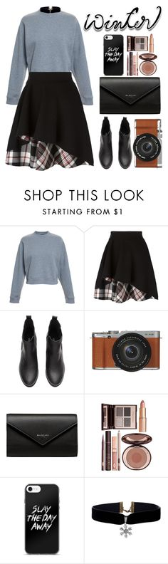 """Winter Sweater"" by zulfastley on Polyvore featuring Acne Studios, Alexander McQueen, Fujifilm, Balenciaga, Charlotte Tilbury, winterfashion, winterstyle and wintersweater"
