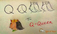 Q = queen