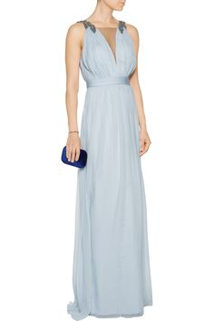 Shop on-sale Marchesa Notte Embellished silk gown. Browse other discount designer Dresses & more on The Most Fashionable Fashion Outlet, THE OUTNET.COM