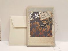 Glückwunschkarten - Glückwunschkarte ALLES GUTE - ein Designerstück von POMMPLA bei DaWanda