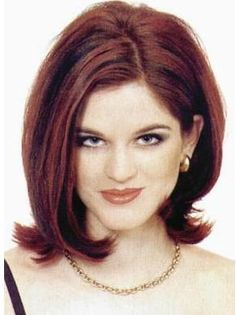 Modern Flip with face framing length turned under.  One of my fave cuts❤️.  Great burgundy color.
