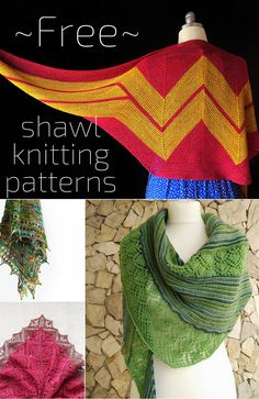 Free shawl knitting patterns for summer to showcase hand dyed yarns