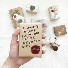 """Saw that meme on Internet (if you can relate :D), so I thought of having one for my mini boxes collection too.. I think, I would be glad too if someone bother to take time wrapping a box. No jokes for this box, it's the third prototype; with spelling error on the first box, wax seal failing on second...  P/S: you can find this wax seal at @backtozeroco shop by searching """"yours sincerely"""". #waxseal #wrapabox #giftwrapping #waxsealing"""