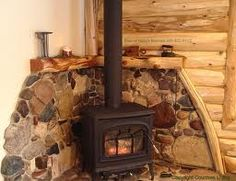 fireplace ideas for stoves - Google Search