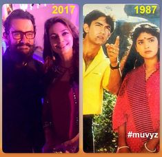 #AamirKhan #JuhiChawla #BollywoodFlashback #80s #NowAndThen #muvyz031418 #AamirKhanBday 🎂 #AamirKhan53rdBirthday…