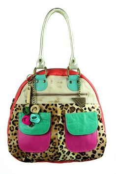 Bold Leather Handbag - Lapwing Leathers. Spacious leather bag made in a mix of textures. Finished colorful leathers with various outer pockets. Free Shipping on U.S. Orders. No Risk Money Back. Buy Now!
