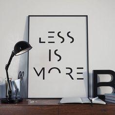 Minimalist Poster Printable Quotes LESS IS di DamaDigitalDesign