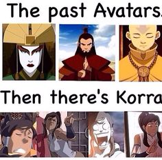 The Legend of Korra/ Avatar the Last Airbender: she's so poised lol | to be fair though, Aang had some pretty funny facial expressions too.