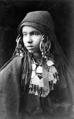 Africa | Young Bedouin woman photographed in Egypt.  ca 1860s | Photo taken by Schier & Schoefft.  GRI Digital Collection