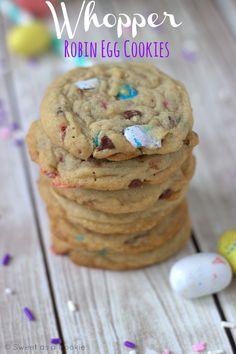 Whopper Robin Egg Cookies via Sweet as a Cookie