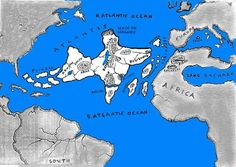 The Lost Civilization of Atlantis - note large lake in N Africa