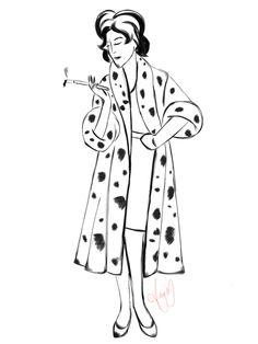 Cruella DeVille by Amy Melissa Martinez #sketch