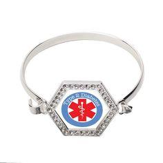 Type Two Diabetes Hexagon Bracelet