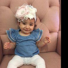 Baby Hair Bows, Baby Girl Headbands, Christening Headband, Photo Prop, Ivory, Etsy, Beautiful, Baby Girls, Face