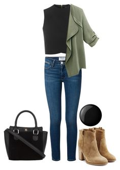 """""""Random #258"""" by kailyn-corey ❤ liked on Polyvore featuring Topshop, Frame Denim, Laurence Dacade and Essie"""