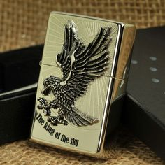 Japanese Plated Silver The King of the Sky Zippo Lighter