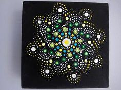 PETIT MANDALA peinture  décor de bureau décoration art au