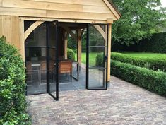 Dubbele deur poolhouse Gazebo, Outdoor Structures, Architecture, House, Home Decor, Outdoors, Interiors, Nice, Kitchen