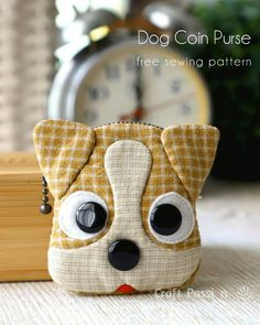 Free sewing pattern to make cute Jack Russell inspired Dog Coin Purse with zipper closure. Template & detailed instructions includes step by step photos for easy understanding. – Page 2 of 2 Coin Purse Pattern, Purse Patterns, Sewing Patterns Free, Free Sewing, Diy Dog Bag, Dog Purse, Dog Quilts, Fabric Bags, Jack Russell Terrier
