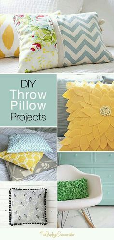 Scatter cushions & How To Sew a 5-Minute Pillow Cover | Pillows Craft and Diy throws pillowsntoast.com