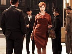 """Christina Hendricks stars as Joan Holloway Harris, the beautiful office manager who eventually rises through the ranks to become a partner at Sterling Cooper & Partners, in """"Mad Men."""""""