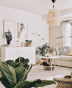 Home Interior Loft .Home Interior Loft Living Room Green, Boho Living Room, Living Room Sets, Bohemian Living, Cozy Living, Bedroom Plants Decor, Boho Bedroom Decor, Plant Decor, Cozy Bedroom
