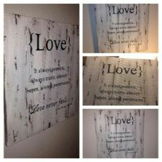 Distressed Home Decor Signs