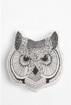 The Rise and Fall Owl Face Pillow