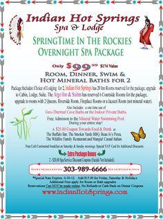 Hot Springs Resort located in Idaho Springs, Colorado $99 Special
