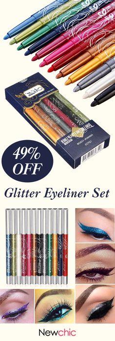 Beauty»Makeup»Eye Makeup»Eye Shadow 12 Colors Makeup Eye Shadow Eyeliner Lip Liner Pen Beauty Tool Set