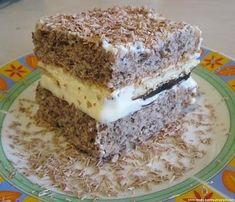 Ciasto orzechowa delicja z mlekiem w proszku