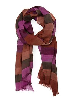 MANGO - Fular lana rayas
