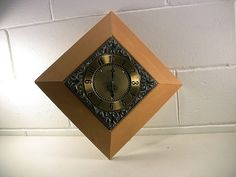 Mid-Century Wall Clock Vintage Wall Clock Wooden Wall Clock