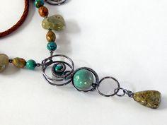 Turquoise Statement Necklace Turquoise Boho Necklace Turquoise Boho Jewelry Gemstone Layering Necklace Turquoise Jewelry by BeadIndulgences on Etsy