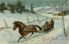 Julekort Gerhard Gjerding utg Åsmund S Lærdal brukt 1947