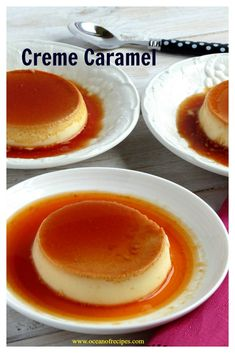 Crème caramel French Desserts, Easy Desserts, Caramel Pudding, How To Make Caramel, Oven Cooking, Custard, Indian Food Recipes, Creme, Breakfast