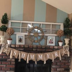 A personal favorite from my Etsy shop https://www.etsy.com/listing/233918727/beach-banner-summer-banner-burlap-banner