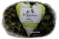 Geldgeschenke - Geldgeschenk zur Konfirmation mit Namen grün/pink - ein Designerstück von antjesdesign bei DaWanda