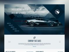 Diagonal flat website concept by Plat4M