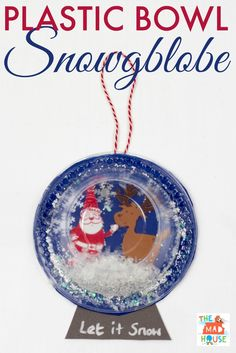 This plastic bowl snow globe is a simple kids craft and contains no water or glass  sc 1 st  Pinterest & Paper plate snow globe! Blue paper plate clear plastic plate ...