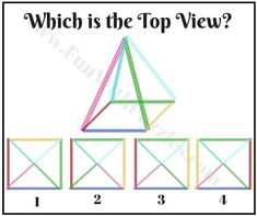 Brain Teaser to find Top View of Pyramid