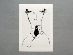 "Art Print: ""Kafka."" #AmandaJaneJones"